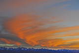 Sunset over the Palisade Region of the Eastern Sierra Nevada, Above the Owens Valley Photographic Print by Gordon Wiltsie