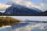 Mount Rundle and Vermillion Lake in Banff National Park Photographic Print by Paul Colangelo