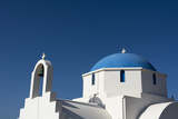 A Small Blue and White Chapel on Antiparos Island Photographic Print by Sergio Pitamitz