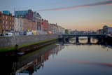 Looking West Along Liffey River in Downtown Photographic Print by Tim Thompson