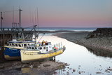 A Couple of Fishing Boats on Dry Land at Low Tide Photographic Print by Robbie George