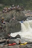 A Kayaker at the Potomac Whitewater Festival, Running Grace under Pressure Rapids Photographic Print by Irene Owsley