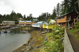 A Scenic View of the Harbor, Boardwalk and Homes Along Elfin Cove Photographic Print by Jonathan Kingston