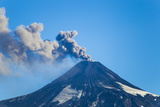 A Small Eruption of the Villarrica Volcano Photographic Print by Mike Theiss