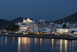 A View of the Village of Parikia at Dusk Photographic Print by Sergio Pitamitz