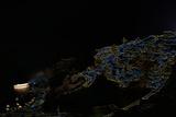 A Color Inverted Composite Image of Santorini Island at Night Fotografisk tryk af Babak Tafreshi