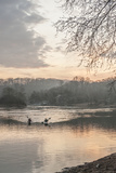 Kayakers on the Potomac River at Sunrise Photographic Print by Irene Owsley