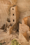 The Ruins of a Cliff Dwelling, Square Tower House, in Mesa Verde National Park Photographic Print by Phil Schermeister