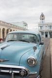 A Vintage Chevrolet in Plaza Jose Marti, Cienfuegos, Cuba Photographic Print by Erika Skogg