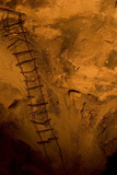 A Wire Ladder Installed in 1924 in the Big Room in the Carlsbad Caverns National Park, New Mexico Photographic Print by Phil Schermeister