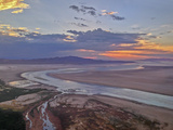 The Sun Sets over the Shoreline of Utah's Great Salt Lake Photographic Print by Gordon Wiltsie