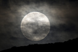 The Full Moon over a Shadowed Landscape Photographic Print by Robbie George