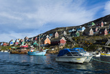 Fishing Boast in the Quiet Harbor of a Village on an Arctic Island Photographic Print by Jason Edwards