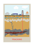 Fracking Prints by Gwen Shockey