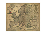 Map of Europe, 1700 Giclee Print by  Science Source