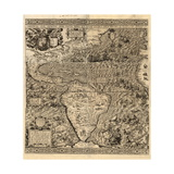 Spanish America, 16th century map Giclee Print by  Science Source