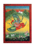 Garuda, the Vahana of Lord Vishnu Lámina giclée por  Science Source