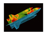 Space shuttle aerodynamics Poster by  Science Source