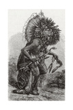 Hidatsa Warrior Dancing Giclee Print by  Science Source