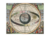 The Universe of Ptolemy, Harmonia Macrocosmica, 1660 Giclee Print by  Science Source