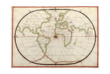 Map of the World, 1590 Giclee Print by  Science Source