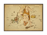 Hercules and Corona Borealis Constellations, 1825 Giclee Print by  Science Source
