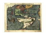 Map of the Americas, 1550 Giclee Print by  Science Source