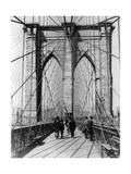 Brooklyn Bridge Promenade, 1898 Photographic Print by  Science Source