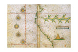 Map of Peru Coast, 1630 Giclee Print by  Science Source