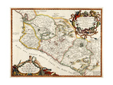 Map of New Spain (Mexico), 16th Century Giclee Print by  Science Source