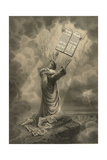 Moses Receiving the Ten Commandments Giclee Print by  Science Source