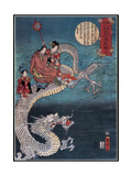 Buddha Riding On Sea Dragon, 1860 Giclee Print by  Science Source