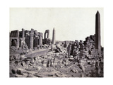 Karnak, Grand Temple Obelisks, 19th century Photographic Print by  Science Source