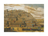 Building of Pyramids of Giza, Egypt Giclee Print by  Science Source