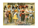 Hurly-Burly Extravaganza and Vaudeville, 1899 Giclee Print by  Science Source