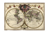 Map of the World, 1720 Giclee Print by  Science Source