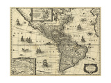 Map of the Americas, 1640 Giclee Print by  Science Source