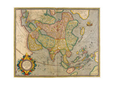 Mercator's Map of Asia Giclee Print by  Science Source