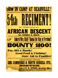 54th Regiment Recruiting Poster, 1863 Giclee Print by  Science Source