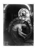 Steelworker Photographic Print by  Science Source