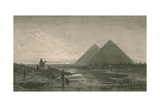 Giza Pyramids Giclee Print by  Science Source