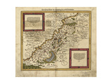 Map of Palestine, 1588 Giclee Print by  Science Source