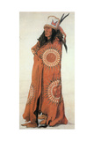 Native American Man in Painted Robe Giclee Print by  Science Source