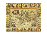 World Map 1626 Giclee Print by  Science Source
