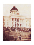 Davis Sworn In, President of the Confederacy, 1861 Fotodruck von  Science Source