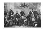 Jefferson Davis, Cabinet of the Confederate States Photographic Print by  Science Source