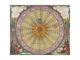 The Planisphere of Copernicus, Harmonia Macrocosmica, 1660 Giclee Print by  Science Source