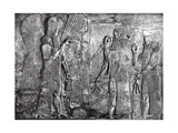 Sargon II Presents Goat to Ahura Mazda Photographic Print by  Science Source