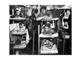 World War II, USN Sailors in Bunks, 1943 Photographic Print by  Science Source