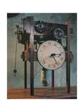 Clock Based on da Vinci Design Giclee Print by  Science Source